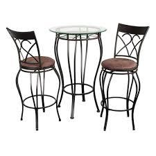fancy glass top 3 piece pub table set hayneedle finest hobby lobby patio