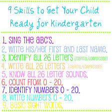 9 skills to get your child ready for kindergarten bonnie donahue 9 skills to get your child ready for kindergarten
