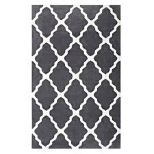 trellis area rug in charcoal and ivory moroccan 8x10 nuloom rzbd16a blythe 8 x 10 grey