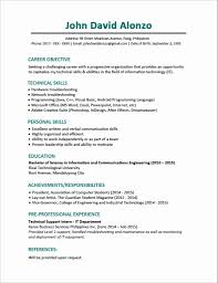 12 Elegant Resume Format For Computer Science Engineering Students