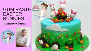 Sugar Paste Cake Decorating How To Make Gumpaste Easter Bunnies Cake Decorating Tutorials