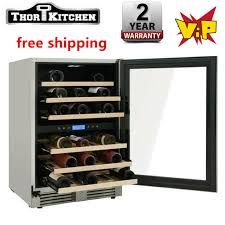 """24"""" Wide <b>46</b>-Bottle Built-In Dual Zone Outdoor Wine Cooler <b>Thor</b> ..."""