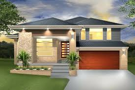 plans split level house plans interesting contemporary houses sloping sites simple narrow rear entry garage