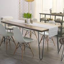 Wrap Around Bench Kitchen Table Wood Flynn Hairpin Dining Table World Market
