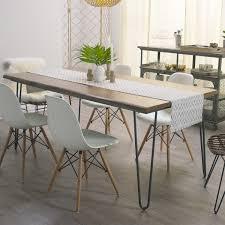 Wood Flynn Hairpin Dining Table | World Market