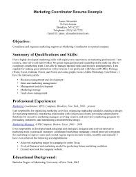Gallery of sample resumes for marketing