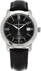 1000 ideas about designer watches for men louis alexander heroic macedon wrist watch for men black dial date analog swiss watch stainless steel plated rose gold watch mens designer watch