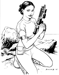 Star Wars Princess Leia Coloring Pages Padme Amidala Commission