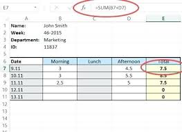 Excel Timesheet Excel Excel Template Excel Employee Monthly ...