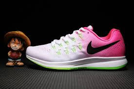 black nike running shoes for girls. new style nike air zoom pegasus 33 white pink blast electric green black 831356 106 trainers girls women\u0027s running shoes for