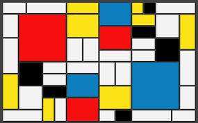 line over form piet mondrian