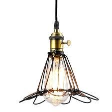 diamond sharp black retro vintage cage lights wire lamp lampshade light industrial shade