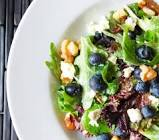 blue and green salad