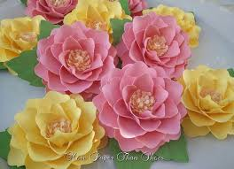 Pink Paper Flower Decorations Paper Flowers Handmade Elizabeth Rose Set Of 30 Pink
