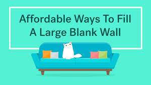 10 affordable ways to fill a large blank wall