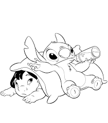Lilo And Stitch Coloring Pages Best Friends Coloringstar