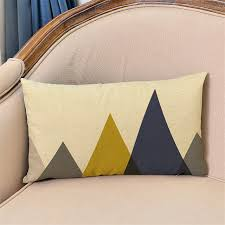 30x50cm decorative lumbar pillow case classic geometric waist cushion cover sofa chair car home coffee