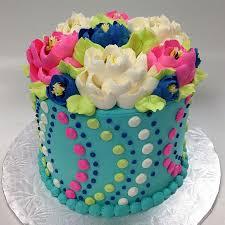 13 Simple Flowers Girls Birthday Cakes Photo Easy Girls Birthday