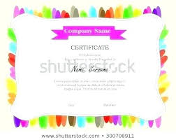 Choir Certificate Template Colorful Certificate Template Choir Examples Of Awards