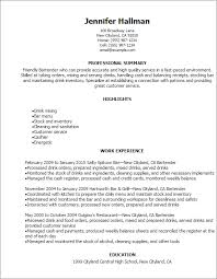 Bartending Resume Interesting Professional Bartender Resume Templates To Showcase Your Talent