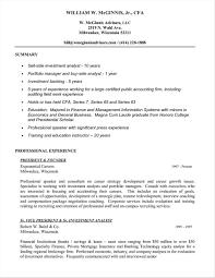 Cfa Candidate Resume Investment Cfa Resume Sample Banking Analyst Resume Badak Cfa 4