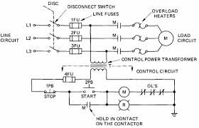 electrical and electronic drawing industrial controls Transformer Disconnect Wiring Diagram 2 elementary diagram of a pushbutton motor control circuit 60 Amp Disconnect Wiring Diagram