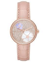michael korscourtney pink strap watch mk2718