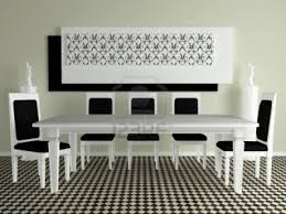 modern black and white dining table. perfect modern black and white dining room table