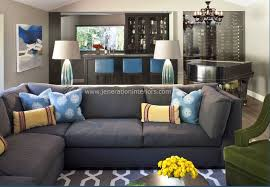 great blue gray sofa grey carpet grey couch family room bing images basment