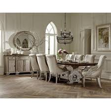 Country french dining rooms Decorating Ideas Chatelet French Style Dining Furniture In White Vintage Wash With Weathered Brown Top Visual Hunt French Country Chairs Visual Hunt