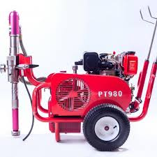 multiple sel 9 hp airless paint sprayer pt980 with hydraulic pump images