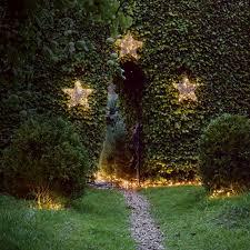 christmas lighting ideas. Christmas Lighting Ideas Privet-hedge-with-rattan-star-lights
