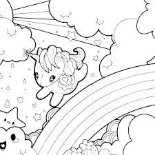 Unicorn Coloring Pages For Kids Unicorn Coloring Page Flying Unicorn