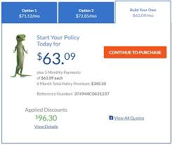 my cur policy with progressive has a total cost of only 288 so geico is actually a bit more expensive however i receive a loyalty with