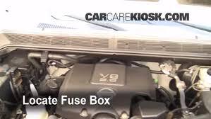 blown fuse check 2004 2015 nissan titan 2007 nissan titan se 5 6 locate engine fuse box and remove cover