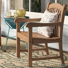 elsmere stacking teak patio dining chair set of 2