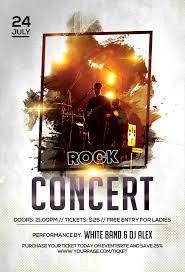 Concert Flyer Templates Free Rock Concert Free Psd Flyer Template Free Psd Flyer