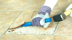 removing floor tiles from concrete how