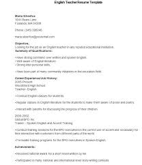 English Resume Samples 40 Teacher Resume Templates Pdf Doc Pages Publisher