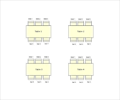 table seating chart template free sample example format square table seating chart for wedding word format