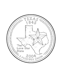 Usa Printables Texas State Quarter Us States Coloring Pages