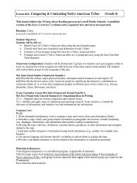 essay on native americans na s native american tribes mrs warner s  native american tribes compare contrast lesson plan final grade native american tribes compare contrast lesson plan