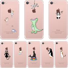 cute iphone 7 cases. ciciber phone cases cute animals spoof crocodile cat panda penguin soft silicon case cover for iphone iphone 7 r