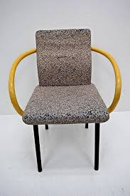 knoll ettore sottsass mandarin chair authentic original vintage wood arms eames