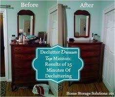 Dresser top storage Beauty Product Amandas Before And After Of Her Declutter Dresser Top Mission Dresser Top Organization Kitchen Organization Pinterest 15 Best Dresser Top Organization Images Painted Furniture Living