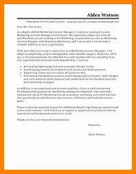 Marketing Managerver Letter Examples Best Sample Trade Project