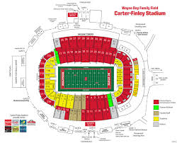 Nc State Seating Chart Carter Finley Stadium Football Seating Chart Elcho Table
