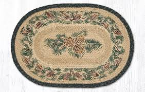 details about pinecone 100 natural braided jute placemat 13 x 19 by earth rugs