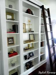 diy library ladder furniture decorative wooden rolling library ladder for home library with white bookshelf surprising diy library ladder