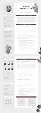 Resume Cv Template Psd Ai Docx Doc Resume Templates